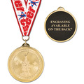 BL Cheer Medal w/ Grosgrain Neckribbon
