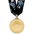 BL Gymnastics, Cheer & Dance Award Medal w/ Multicolor Neck Ribbon