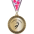 GFL Metallic Gymnastics, Cheer & Dance Award Medal w/ Grosgrain Neck Ribbon