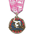 Superstar Award Medal w/ Multicolor Neck Ribbon