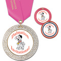 GEM Full Color Gymnastics, Cheer & Dance Award Medal w/ Satin Neck Ribbon
