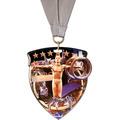CSM Shield Gymnastics, Cheer & Dance Award Medal w/ Grosgrain Neck Ribbon