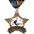 AS All Star Full Color Swim Award Medal w/ Millennium Neck Ribbon