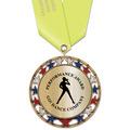 RSG Metallic Gymnastics, Cheer & Dance Award Medal with Satin Neck Ribbon