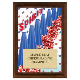 Cheer Spirit Award Plaque - Cherry Finish