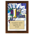 First Place Gymnastics, Cheer & Dance Award Plaque - Cherry Finish