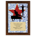 Gym Star Male Award Plaque - Cherry Finish