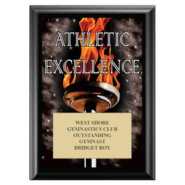 Athletic Excellence Award Plaque - Black