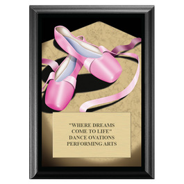 Ballet Award Plaque - Black