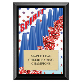 Cheer Spirit Award Plaque - Black