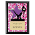 Gym Star Female Award Plaque - Black