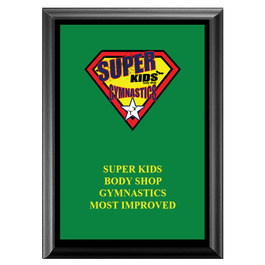 Full Color Gymnastics, Cheer & Dance Award Plaque - Black