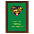 Full Color Gymnastics, Cheer & Dance Award Plaque - Cherry Finish