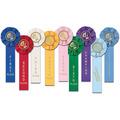 Stock Gymnastics Rosette Award Ribbon