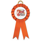 Littleton Gymnastics, Cheer & Dance Rosette Award Ribbon w/ Stock Button Center