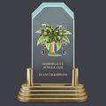 Pop-In™ Jade Acrylic Gymnastics, Cheer & Dance Award Trophy w/ Pedestal Base