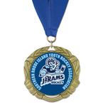 XBX Full Color Hockey Medal w/ Grosgrain Neck Ribbon