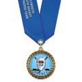 LFL Full Color Hockey Award Medal w/ Satin Neck Ribbon