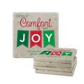Comfort and Joy Tumbled Stone Coasters