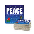 Peace Tumbled Stone Coasters
