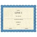Custom Horse Show Award Certificates - Classic Blue Design