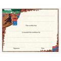 In-Stock Full Color Horse Show Award Certificate - Barrel Racing Design