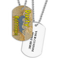Personalized Dusty Bottoms Dog Tag w/ Print on Back