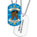 Personalized To Ride Or Not To Ride Dog Tag w/ Print on Back