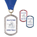 GEM Tag Horse Show Award Medal w/ Grosgrain Neck Ribbon