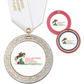 GEM Full Color Horse Show Award Medal w/ Satin Neck Ribbon