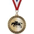 GFL Metallic Horse Show Award Medal w/ Grosgrain Neck Ribbon