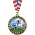 GFL Full Color Horse Show Award Medal w/ Grosgrain Neck Ribbon