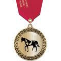 GFL Metallic Horse Show Award Medal w/ Satin Neck Ribbon