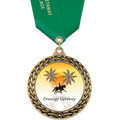 GFL Full Color Horse Show Award Medal w/ Satin Neck Ribbon