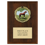 XBX Horse Show Medal Award Plaque - Cherry Finish