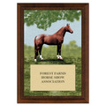 Full Horse Award Plaque - Cherry Finish