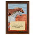 Run Free Horse Show Plaque - Cherry