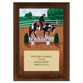 Western Trail Horse Show Award Plaque - Cherry Finish