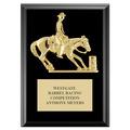 Barrel Racing Horse Show Award Plaque - Black Finish