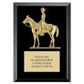Quarter Horse w/ Rider Award Plaque - Black Finish