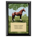 Full Horse Award Plaque - Black
