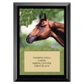 Horse Head Award Plaque - Black