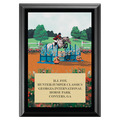Jump Off Horse Show Plaque - Black