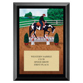 Western Trail Horse Show Award Plaque - Black