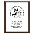 Full Color Horse Show Award Plaque - Cherry Finish