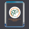 Blue Shimmer Acrylic Horse Show Award Trophy