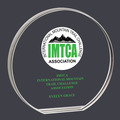 Round Acrylic Horse Show Award Trophy