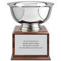 Revere Bowl Horse Show Award Trophy w/ Cherry Base