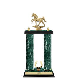 "15"" Jade Finished Horse Show Award Trophy w/ Trim"