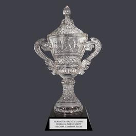Devon Optical Horse Show Trophy Cup w/ Black Optical Crystal Base